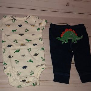 Carters newborn boy dinosaur outfit